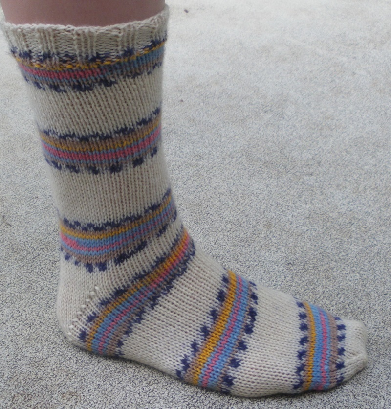 Free Two Needle Sock Knitting Patterns : Materials: