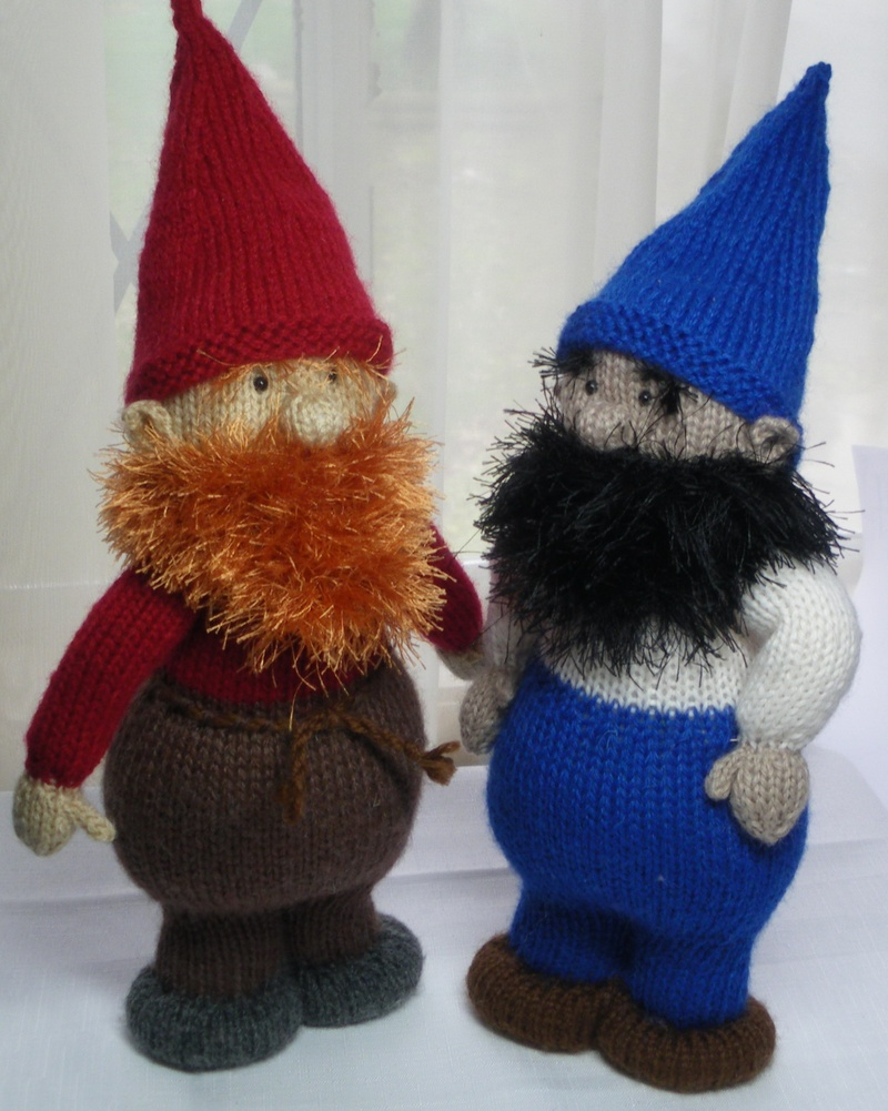 Knitting Pattern For Gnome Hat : The pattern for the knitted gnome is available